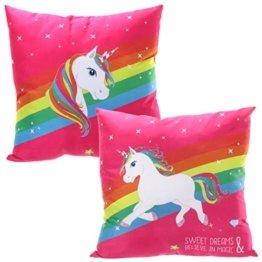 Bada Bing Kissen Einhorn Pink Magic Unicorn Kuschelkissen Mädchen Trend 144 -