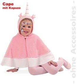 Einhorn Cape mit Kapuze Polar Fleece Baby Kleinkind Kinder - Kostüm Babykostüm Kinderkostüm Gr 104 Fasching -