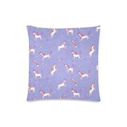 Home Dekorative Custom Kissen Fall pillowslips Einhorn Cartoon-Muster Kissenbezug, Größe 50x 50cm, baumwolle, 3, 20 X 20 inch -