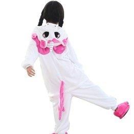 Kinder Kostüm Einhorn Pyjama Tierkostüm Schlafanzug -