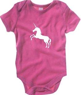 Krokodil Baby Body Einhorn Fabeltier, Farbe pink, Größe 3-6 Monate -