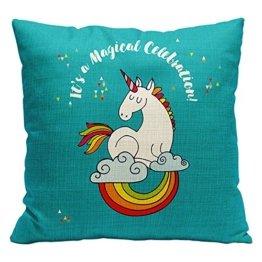 Süßes Einhorn Dekorative Kissen Kissenbezüge Zierkissenbezüge für Kinderzimmer Babyzimmer Dekoration (Einhorn4) -