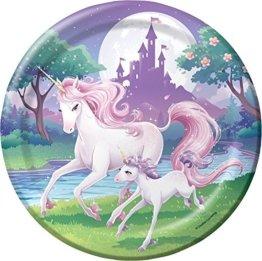 Tortenaufleger * FANTASY EINHORN * als Deko für Torten und Kuchen // Unicorn Kinder Geburtstag Kindergeburtstag Kinderparty Party -