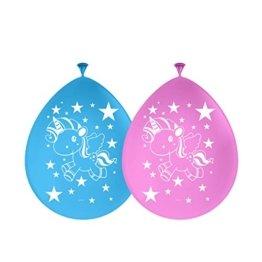 Einhorn Luftballons Ballons Latexballons 30cm Durchmesser 8 Stück mit Palandi® Sticker -