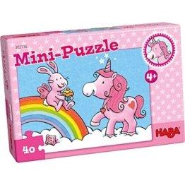 Haba 302116 Mini-Puzzle Einhorn Glitzerglück -