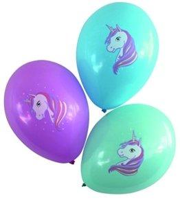 Karaloon 30024-C - Ballons - Einhorn, 15 Stück -