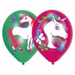 NEU Luftballons Einhorn, 6 Stück -