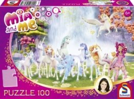 Schmidt Spiele 56033 – Mia and Me, Centopias Einhörner, Puzzle, 100 Teile -