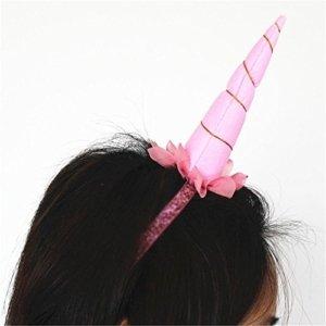 Blue Vessel Zarte Einhorn Horn Stirnband Elastische Hairband Mädchen Geburtstagsfeier Geschenke Dekor (rosa) -