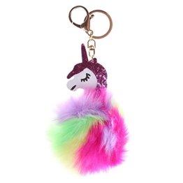 Chinget Niedlich Einhorn Plüsch Schlüsselanhänger Charme Anhänger für Schlüsselbund Kfz Handtaschen (Bunt 8) -