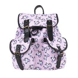 Einhorn Rucksack, FrohLila Unicorn Rucksack Schultasche Daypacks Schulrucksäcke Schulranzen aus Oxford Tuch Reise Outdoor Sports Gepäck Tasche für Damen & Mädchen -