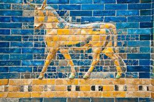 Einhorn auf der Babylonische Stadtmauer